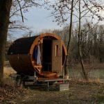 Holzfass-Sauna