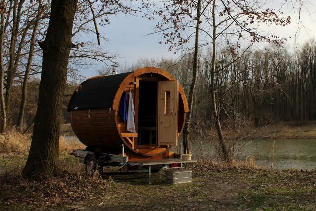 SaunaMobil Holzofen Anhänger