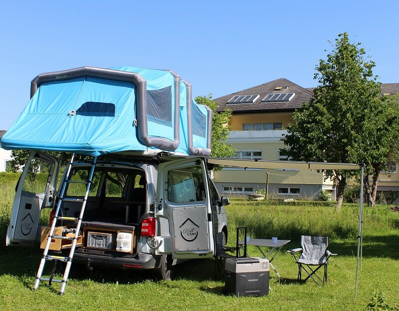 VW Bus T6 Bulli Wohnmobil lang mit Allrad, Navi, Markise, Küche,…